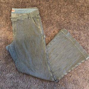 Gap pinstripe bellbottom pants